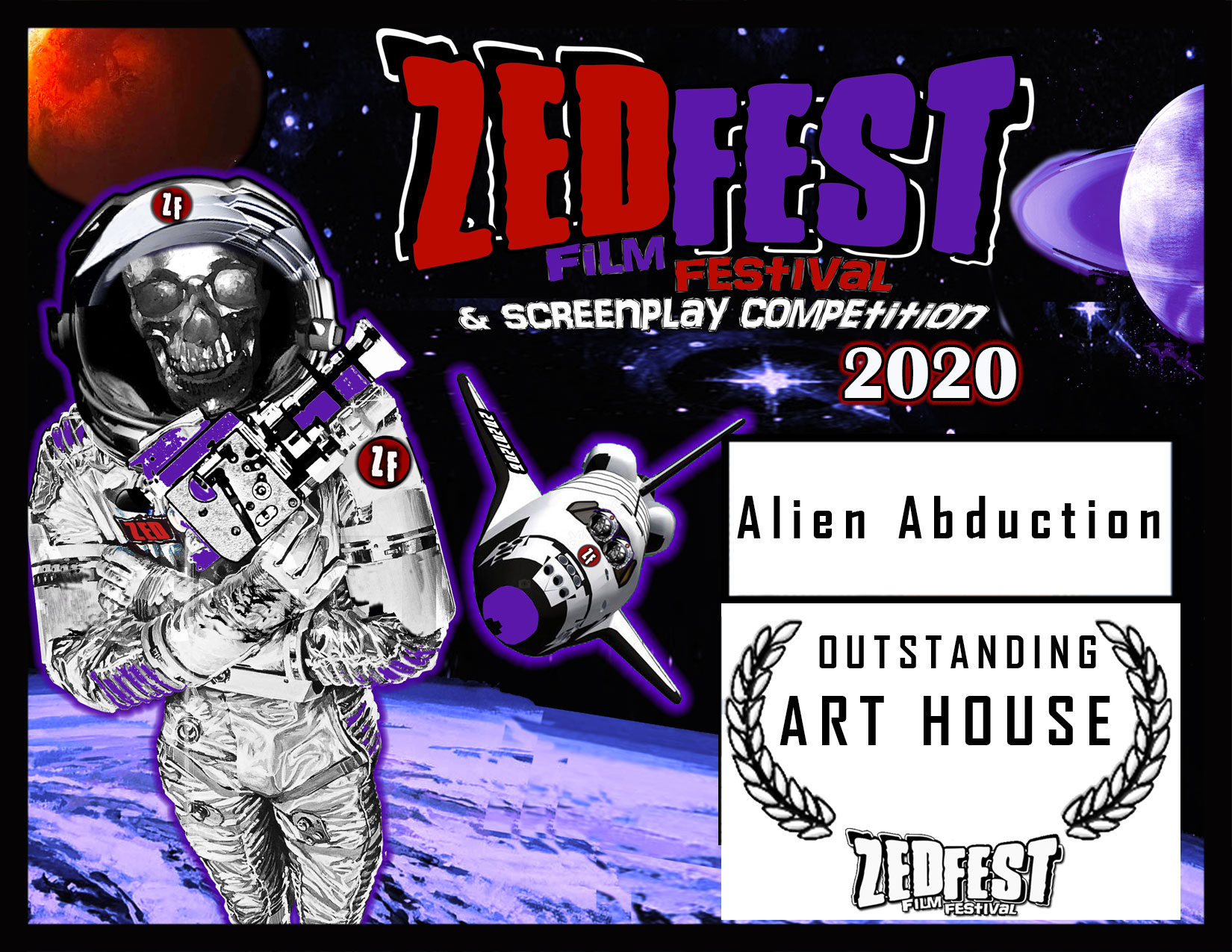 Zed Fest 2020 Alien Abduction ART HOUSE Award